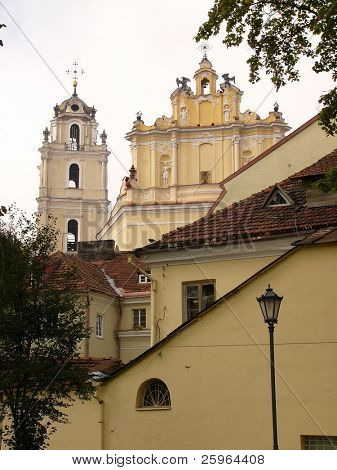 Churches in Vilnius, Baltic, Europe