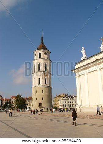 Bell tower of Vilnius Bellfry cathedral, Lithuania, Europe