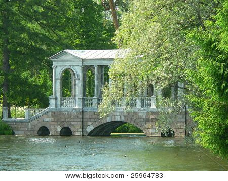 Old bridge in Tsarskoye selo, St.Petersburg, Russia