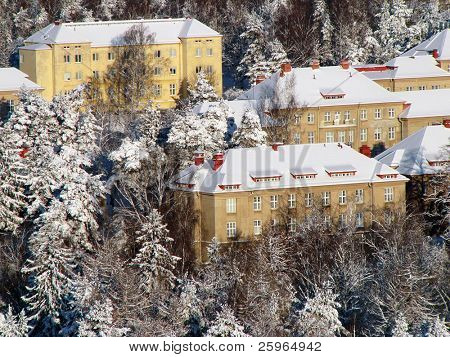 Winter homes in Helsinki, Lapland, Finland, Europe