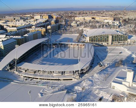 Winter stadium in Helsinki