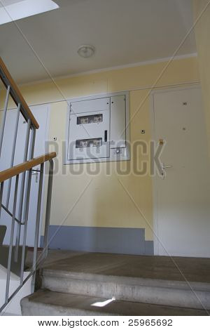 Staircase and metering board