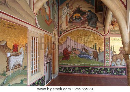 """Kykkous oder Kykkou Kloster in Zypern, Europa """"Application Vault"""". sehr beliebte Tourismusdestination wissen von ancie"""