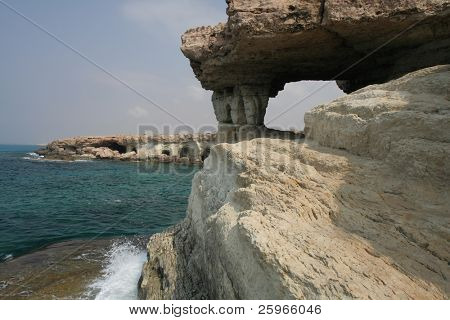 Cape greco or cavo greco - sea caves in Cyprus between Protaras and Ayia Napa