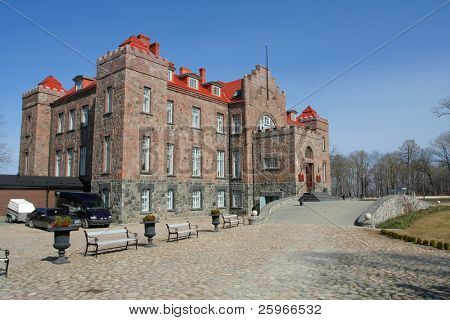 Jaunmoku castle in Latvia, Baltic states