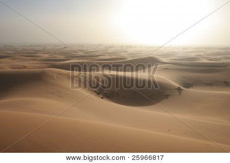 White sand storm