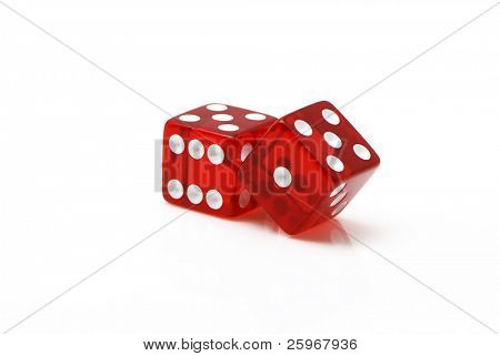 craps on a white background
