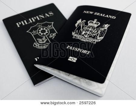 schwarze und weiße passport