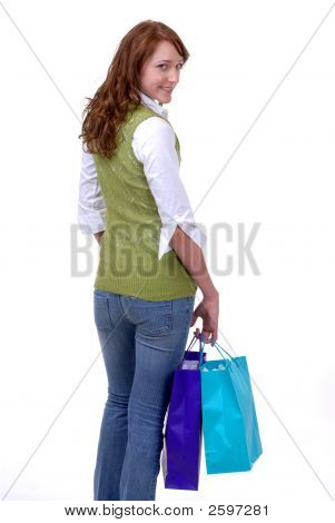 Young Teen On A Shopping Spree