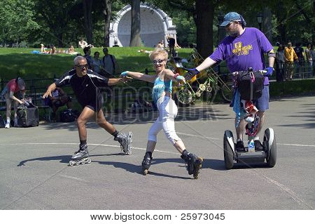 Skaters In Central Park NYC