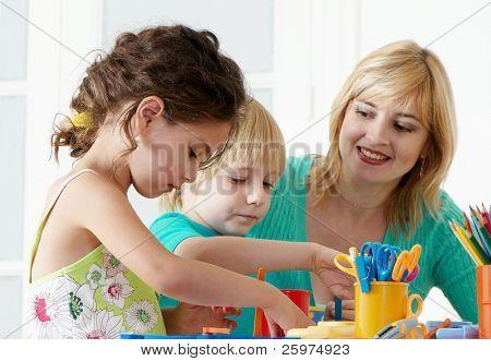 Employment in a kindergarten