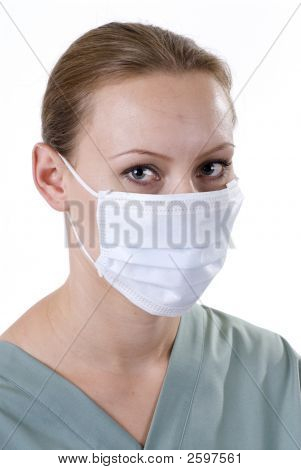 Female Doctor Prepared For Surgery