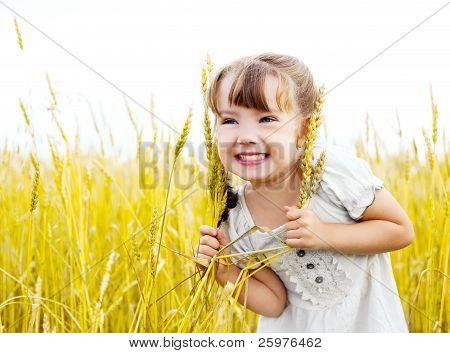 Girl In The Wheat Field