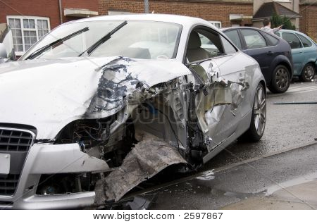 Motor Car Crash Scene