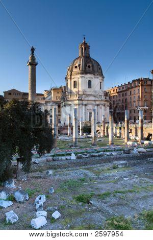 Forum Of Trajan, Roma, Italy