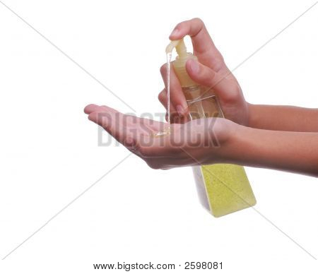 Pump Bottle And Hand