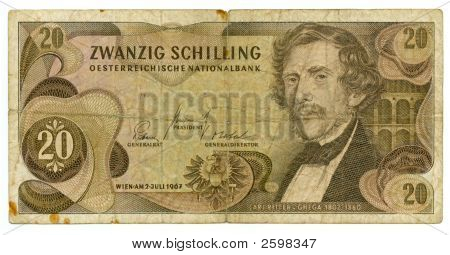 20 Shilling Bill Of Austria, 1967