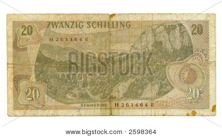 20 Shilling Bill Of Austria, 1967
