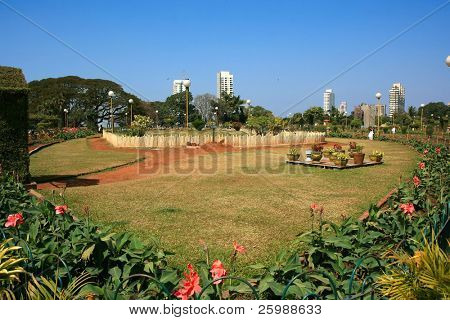 Hanging Gardens in Mumbai, park on top of the hill, popular with Mumbai's courting couples