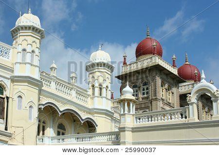 A view of the famous Mysore Palace in Mysore City, Karnataka, India.