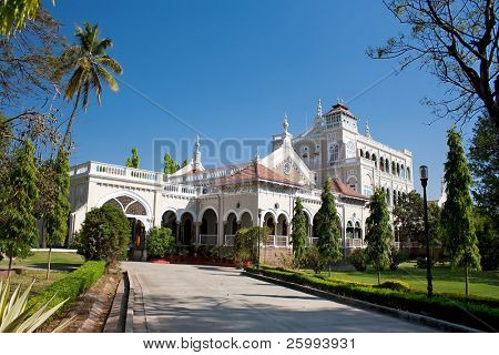 Gandhi memorial, Aga Khan Palace, Pune, Maharashtra, India
