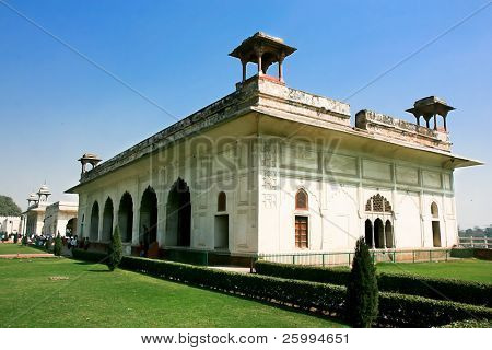 Marble palace, Inside of Famous Red Fort also known as Lal Qil'ah, UNESCO World Heritage Site ,   Delhi, India