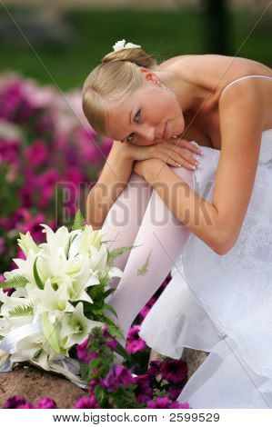Sad Looking Sexy Bride
