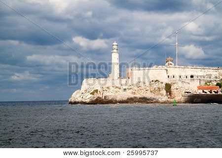 Castle los Tres Santos Reyes Magnos del Morro with Lighthouse in Havana Bay entrance, Havana, Cuba