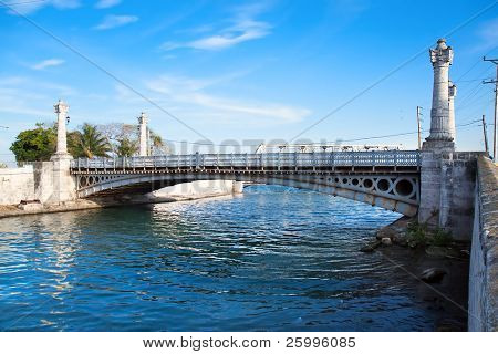 Versalles bridge, one of  21  bridges over a two rivesr in Matanzas, date from 1899, Cuba