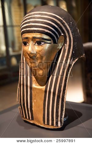 Egyptian mummy mask , original, Vienna, Austria