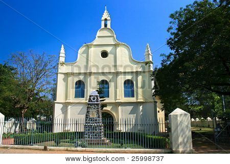 St. Francis Church in Cochin. Indian oldest European built churdh where was buired Vasco da Gama for 14 years. Kerala,  Southern India
