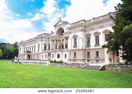 Liiechtenstein Museum with beautiful park , Vienna, Austria