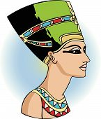 stock photo of nefertiti  - vector head of egyptian queen nefertiti - JPG