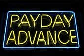 "picture of loan-shark  - ""neon sign"" series ""payday advance"" - JPG"