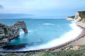 Durdle Door Bay In The Morning