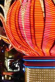 picture of las vegas casino  - The colorful lights of the Flamingo Hotel - JPG