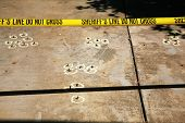 picture of crime scene  - crime scene investigation with real sheriff  - JPG