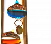 picture of galileo-thermometer  - Based on a thermoscope invented by Galileo Galilei in the early 1600s this thermometer is called a Galileo thermometer - JPG
