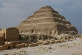 Step pyramid of Pharaoh Djoser in Saqqara near Cairo, Egypt