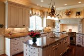 stock photo of opulence  - Luxury kitchen with granite counters - JPG