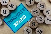 Writing Note Showing Innovate Brand. Business Photo Showcasing Significant To Innovate Products, Ser poster