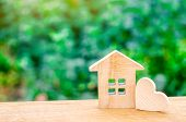 House With A Wooden Heart. House Of Lovers. Affordable Housing For Young Families. Valentines Day H poster