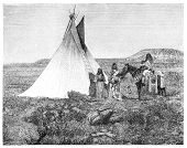foto of teepee  - Native americans from Utah region - JPG
