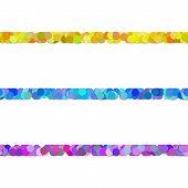 Seamless Random Circle Pattern Paragraph Dividing Line Design Set - Vector Decor Elements From Color poster