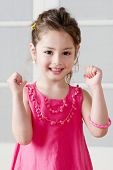 stock photo of little girls  - Happy little girl - JPG