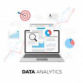 Data Analytics Concept. Seo Optimization. Search Engine Optimization. Seo Content Marketing. Web Ana poster