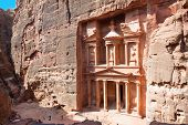 pic of petra jordan  - Treasury in ancient city of  Petra in Jordan - JPG
