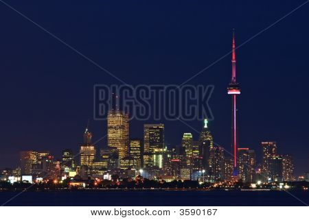 Toronto Lights At Dusk