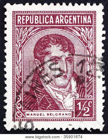 Selo postal Argentina 1935 Manuel Belgrano