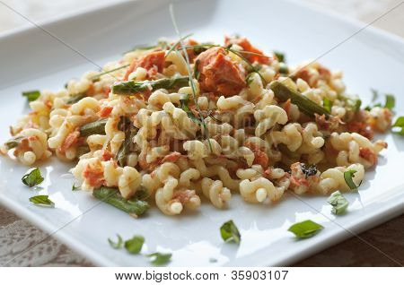 Fusilli with Salmon